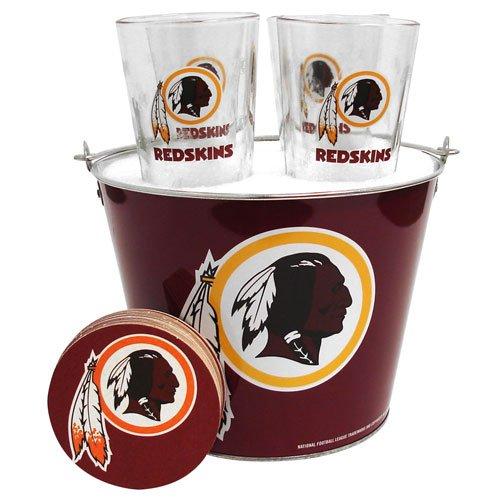 NFL Washington Redskins 5-Quart Gift Bucket Set with Satin Etch - Etch Satin Bucket