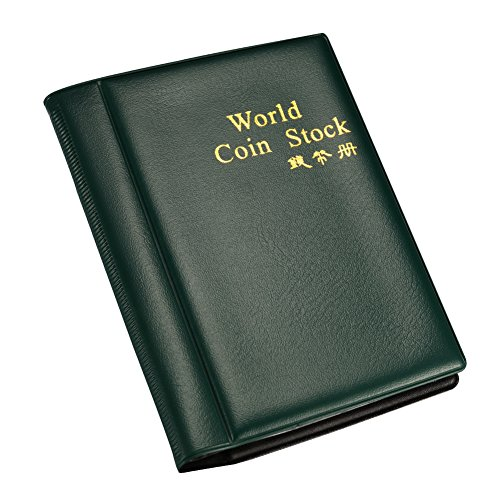 Rely2016 Convenient 120 Coins World Coin Stock Coin Collecting Book Coin Protection Album Holders Easy to Carry and Hold (Random Color)