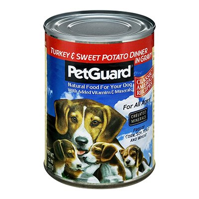 PetGuard Turkey and Sweet Potato with Gravy Dog Food, 14-Ounce (Pack of 12)