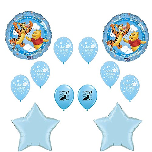 Winnie The Pooh Its A Boy Baby Shower Balloons Decoration Kit]()