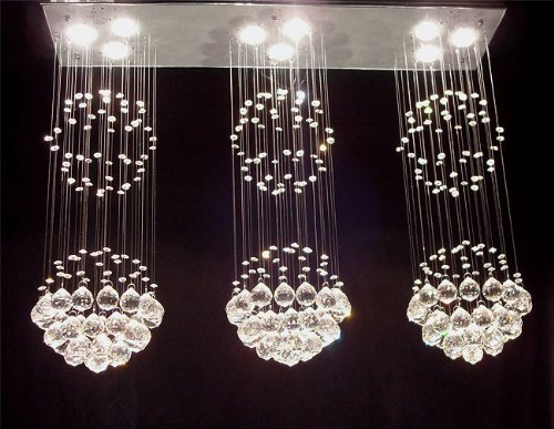 Modern contemporary chandelier triple rain drop chandeliers lighting