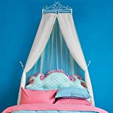Lustar Mosquito Net Double Bed Canopy Polyester Home Fly Insect Protection 1.5m to 1.8m Bed Indoor Decoration 4-Color to Choose,White