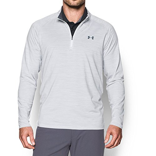 Under Armour Men's Playoff 1/4 Zip,Overcast Gray/Rhino Gray, Large (Mens Pullover Golf)