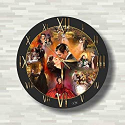 Gone with The Wind 11.4'' Handmade Wall Clock - Get Unique décor for Home or Office – Best Gift Ideas for Kids, Friends, Parents and Your Soul Mates.