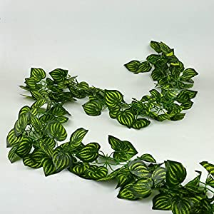 Rurality 8 Ft Artificial Silk Greenery Chain Ivy Wedding Garland,Pack of 2 2