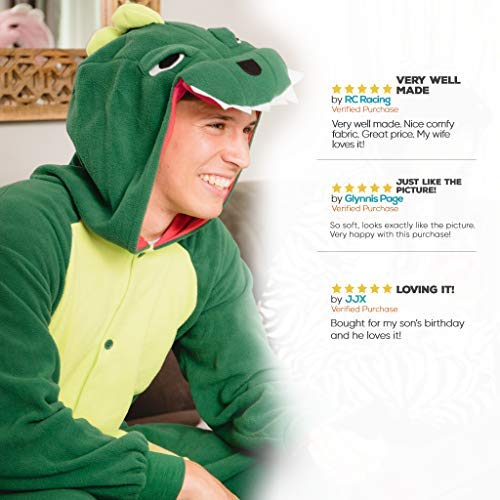 Emolly Adult Dinosaur Animal Costume for and