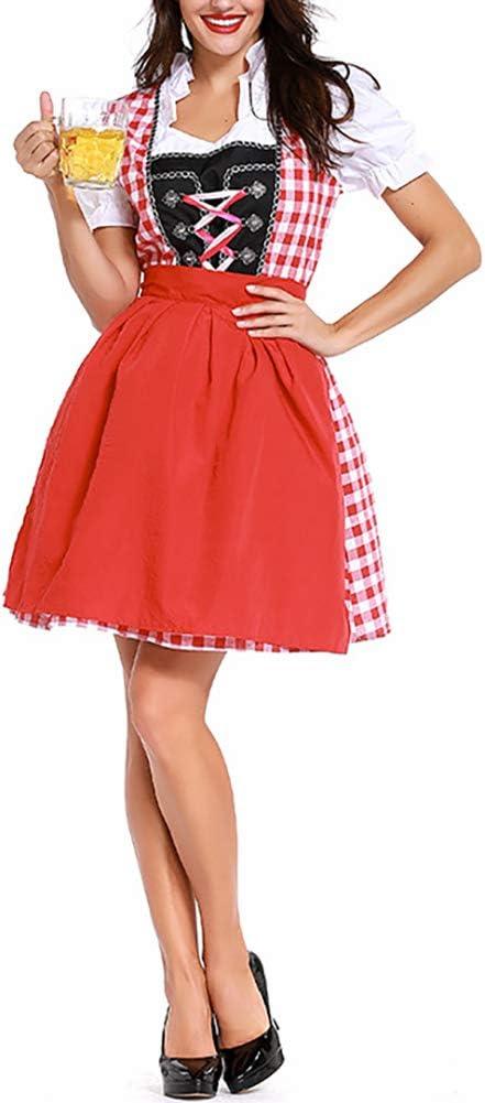 Disfraz alemán de Oktoberfest para Mujer con Bordado Rosa para ...
