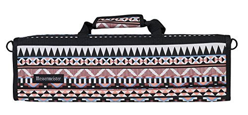 Messermeister 8 Pocket Padded Knife Roll - Aztec