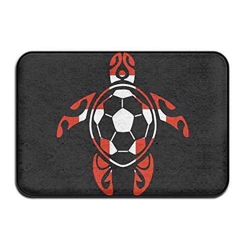 Youbah-01 Indoor/Outdoor Area Rug Floor Mat with Switzerland Flag Soccer Sea Turtle Pattern for Pet Cat Dog Feeding Mat by Youbah-01