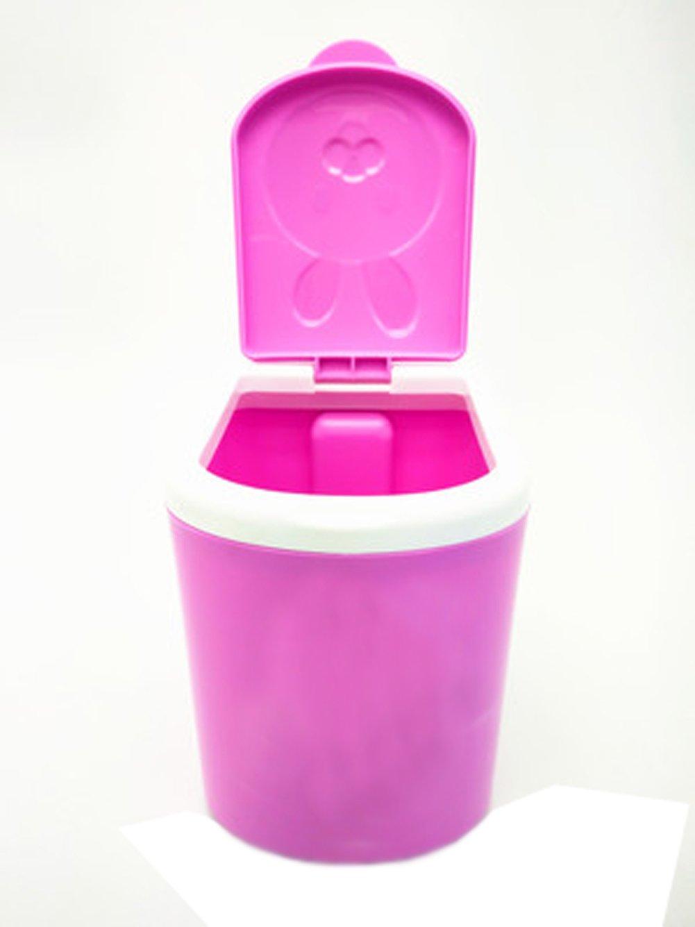 Battletter Mini Cartoon Animals Car Desktop Trash Can (Purple)