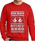 Tstars Its Christmas Bitches Ugly Sweater Humping Reindeer Funny Sweatshirt