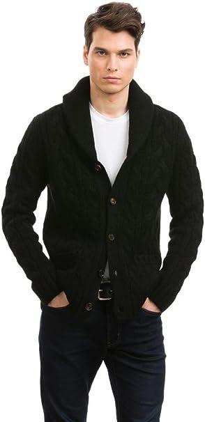 Citizen Cashmere Shawl Collar Cardigans 100 Tibetan Yak Wool Black