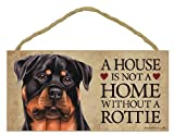 "A house is not a home without Rottweiler Dog - 5"" x 10"" Door Sign"
