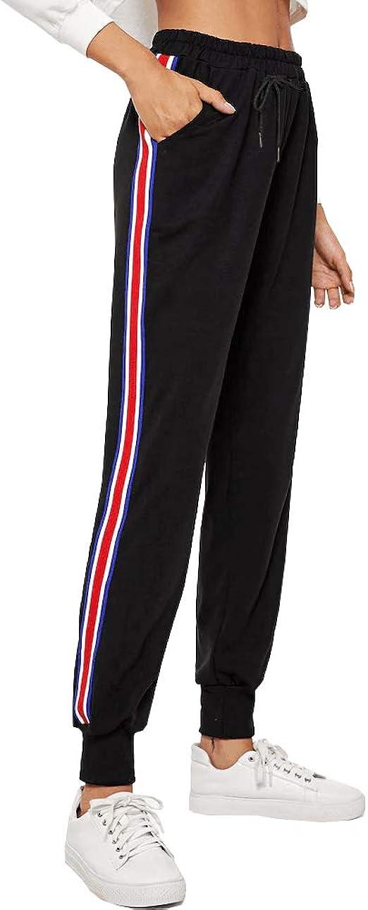 BUDERMMY Pantalon Chandal, Mujer Largos Pantalones de ...