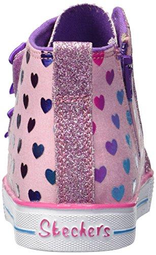 Skechers pink Rose multi Shuffle Lite Hautes Baskets Flutters fancy Pkmt Fille rrPa61qn