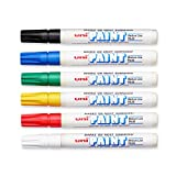 Uni-Paint PX-20 Oil-Based Paint Marker, Medium Point, Assorted Colors, 6-Count