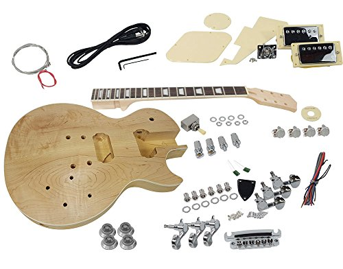 Solo LPK-200 DIY Electric Guitar Kit With 2cm Solid Flame Maple Top