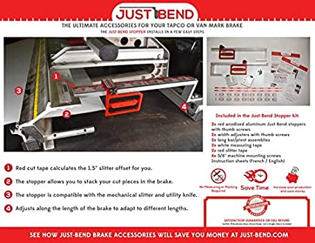 for All Other Tapco /& Van Mark Brakes Made in Canada by InnovaTools Inc. Just-Bend Stopper Kit for Tapco and Van Mark Siding Brake Press