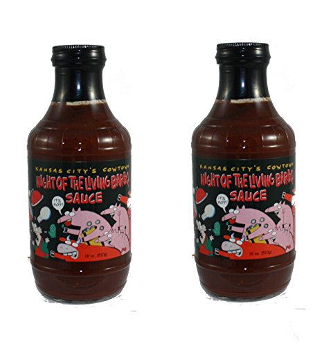 Kansas City's Cowtown Night of the Living Bar-B-Q Sauce - 2 Pack (Best Low Sodium Bbq Sauce)