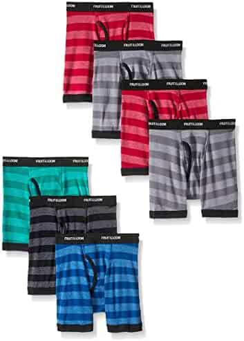 Fruit of the Loom Boys Boxer Brief, Exposed and Covered Waistband