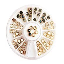 Set of 5 Nail Art DIY Design Decorations Beautiful Multicolored Beads for Female