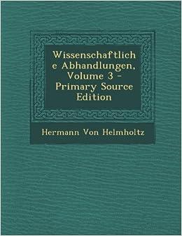 Book Wissenschaftliche Abhandlungen, Volume 3