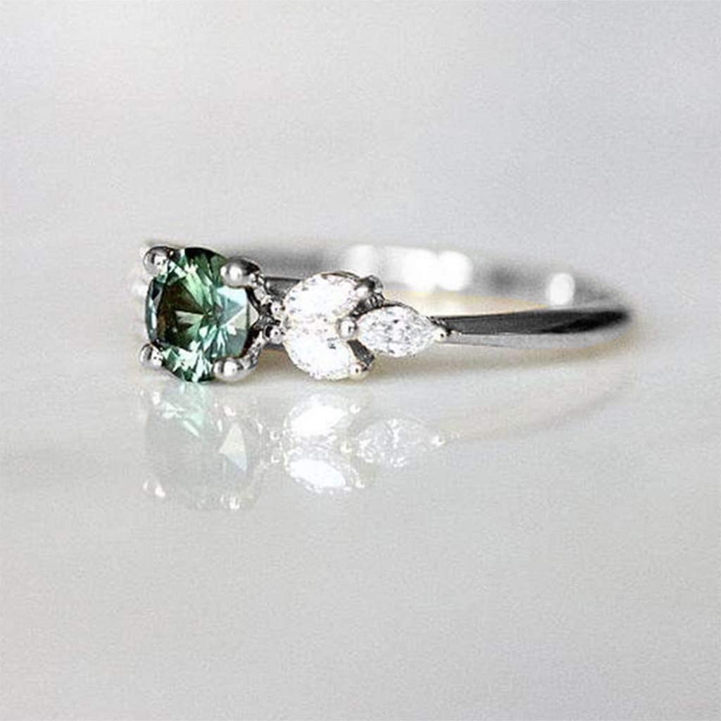 Fainosmny Fashion Ring with Diamond Ring Natural White Romantic Wedding Jewelry Size 5-11