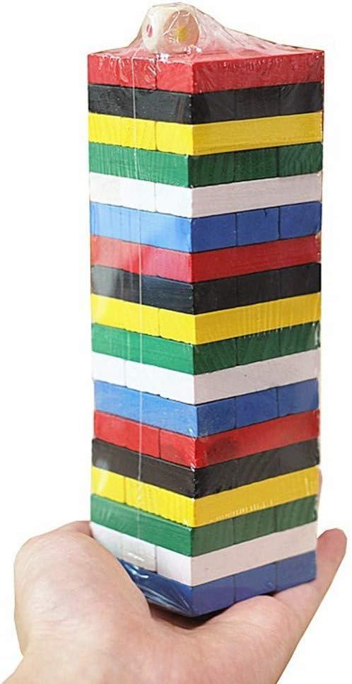 Pilas De Color Primario Para Niños De Bloques De Construcción De Alto Color En Capas Jenga Juguetes De Madera Mini Bloques De Color: Amazon.es: Amazon.es