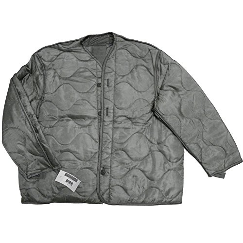 (Foliage Green Quilted M-65 Field Jacket Liner, U.S. Army Cold Weather Coat Insert (X-Large))