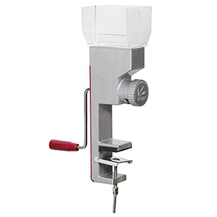 Deluxe Hand Crank Grain Mill with Clamp Base Grinds Wheat, Rice and Small  Grains VKP1024