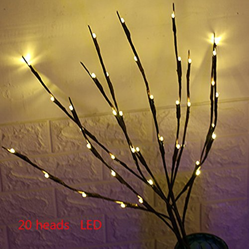 Branch Lights,Led Branches Battery Powered Decorative Lights Vase Filler Willow Twig Lighted Branch for Home Wedding Christmas Festival Decoration (Warm White)