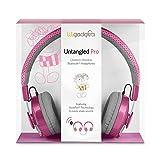LilGadgets Untangled Pro Premium Children's Wireless Bluetooth Headphones with SharePort - Pink