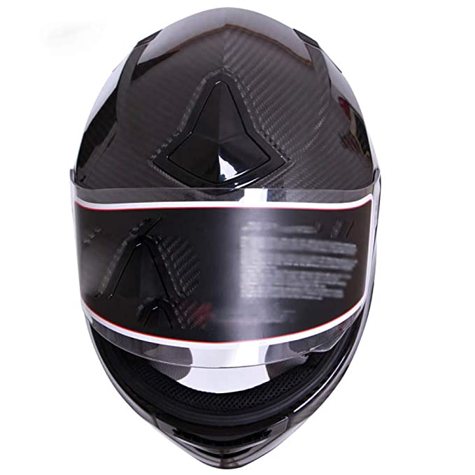 BCX Casco de XCF, Fibra de Carbono, Casco de la Motocicleta de los Hombres y de Las Mujeres Casco de la Seguridad de la Locomotora del Casco de la Cara ...