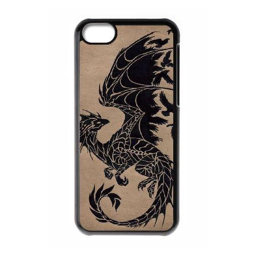 Dragon Tribal 002 coque iPhone 5C Housse téléphone Noir de couverture de cas coque EOKXLLNCD19716