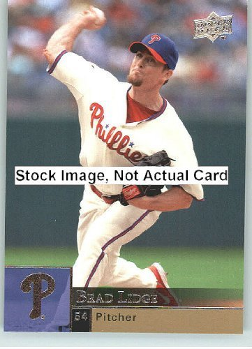 2009 Upper Deck Baseball Card # 298 Brad Lidge (Phillies) MLB Trading Card ()