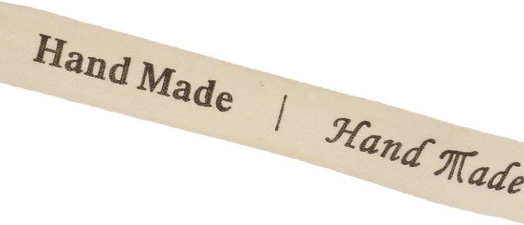 5 Yardas como Muestra la Imagen LOVIVER 5 Yardas Hand Made Impresa Tela Cinta Regalo Pack Arte Decoraci/ón de Casamiento