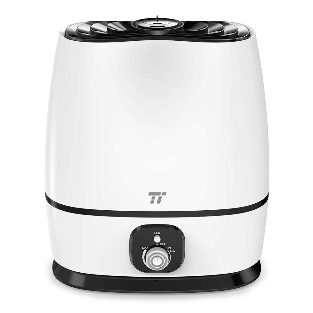 Cool Mist Humidifiers, TaoTronics Ultrasonic Humidifier for the Whole House, Home Bedroom, Baby Nursery, Super Quiet Operation, Humidifiers with 6 L/1.6 Gal Large Capacity, Dual 360° Rotatable Mist Outlets, Classic Dial Knob Control