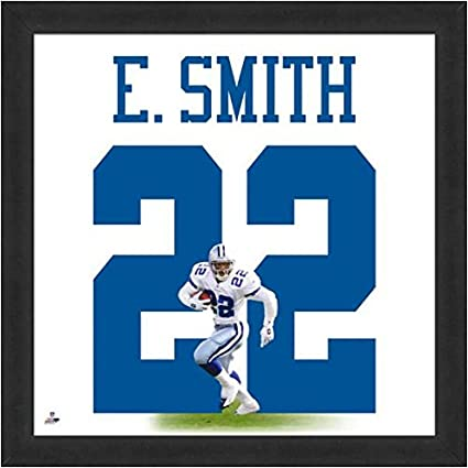 b1ffb4e7 Amazon.com: Dallas Cowboys Emmitt Smith #22 Players Jersey Uniframe: Sports  Collectibles