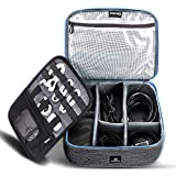Cable Organizer Travel Bag,Electronics Accessories Organizer,Electronics Organizer Travel Bag and Travel Electronic Accessories Storage Bag for Cables,Phone,Power Bank, Mouse,iPad - Blue