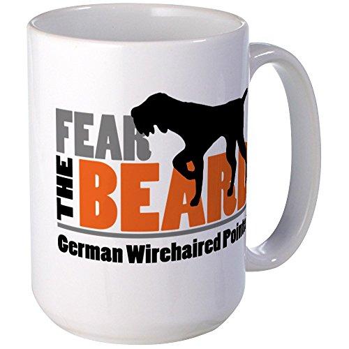 German Wirehair Pointer (CafePress - Fear the Beard - GWP Mugs - Coffee Mug, Large 15 oz. White Coffee)
