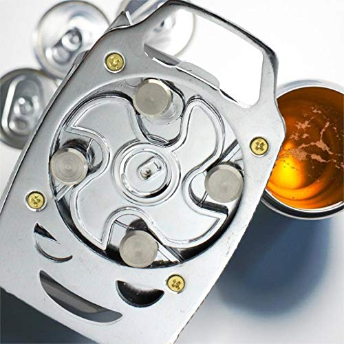 Go Swing Topless Can Metal Opener Bottle Opener Safety Easy Manual Cut Can Opener Smooth Edge Can Opener Jar Opener Party Pub Corkscrew Beverage Wrench for Household Kitchen