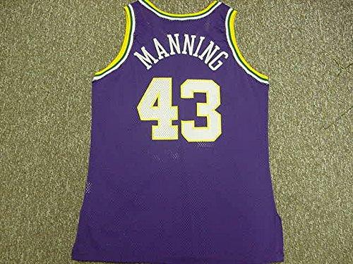 Manning Game Jersey - Rich Manning Utah Jazz 1994-1995 Champion Purple Game Jersey