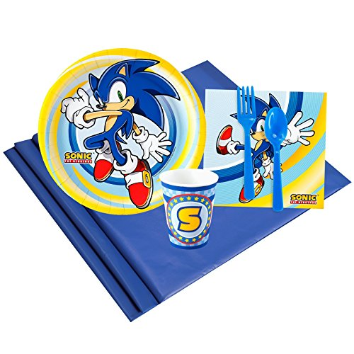 BirthdayExpress Sonic The Hedgehog Party Supplies - Party Pack for 8 -