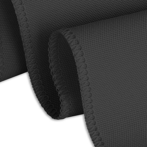 Buy black linen table clothes for rectangle tables
