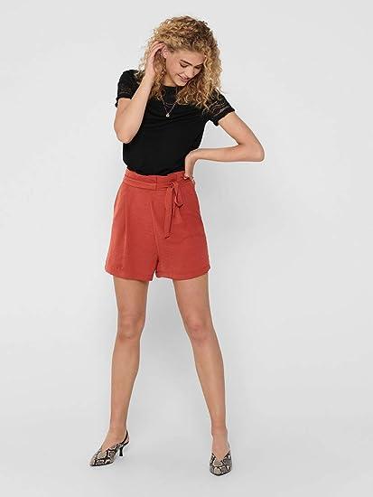Only Onlalfina Paperbag Shorts Wvn Pantalones Cortos Informales para Mujer
