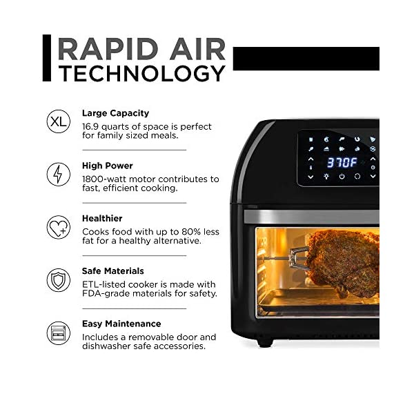 Best Choice Products 16.9qt 1800W 10-in-1 XXXL Family Size Air Fryer Countertop Oven, Rotisserie, Dehydrator w/Digital… 3