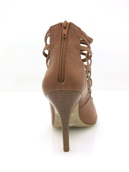 Via Uno High Heels Lederschuhe Sandalette Damen braun wow
