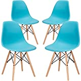 Cheap Poly and Bark Vortex Side Chair, Aqua, Set of 4