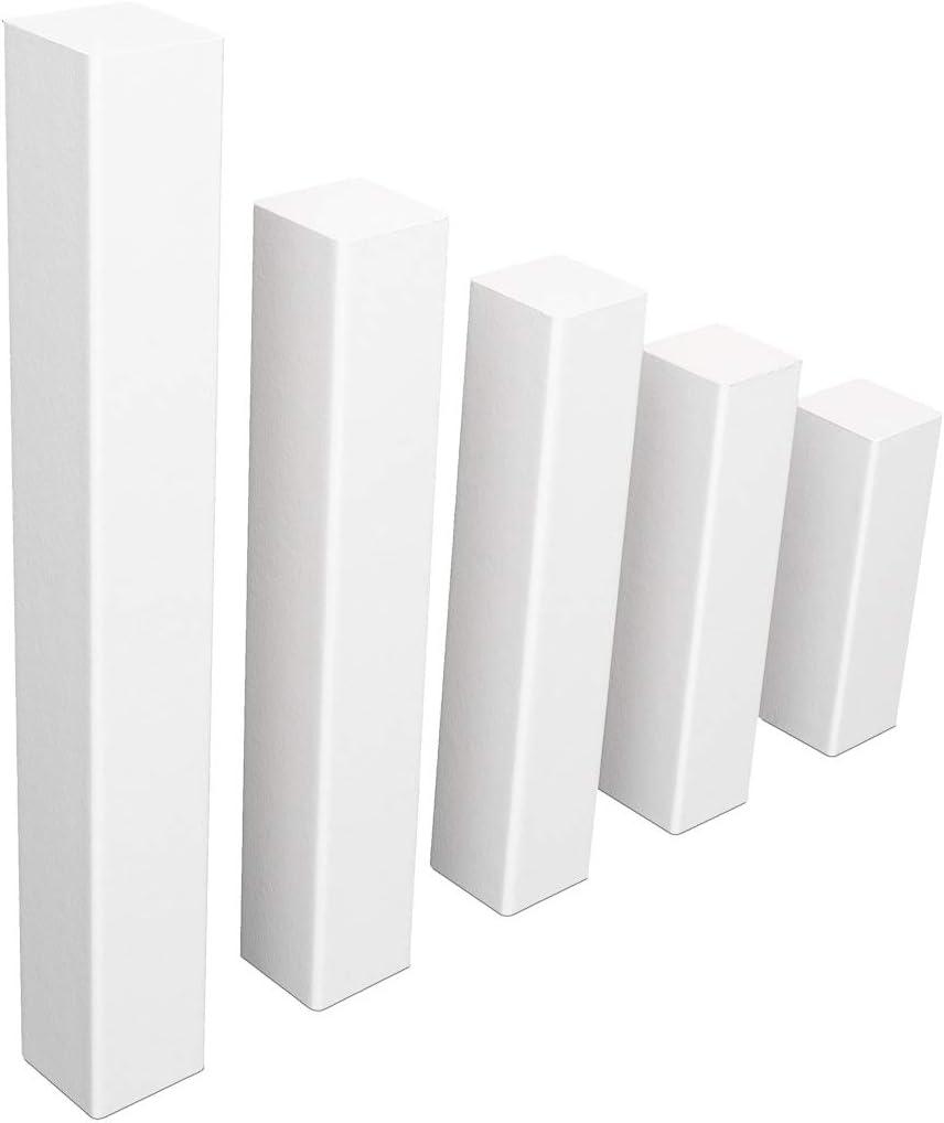 Universal Fussleisten Eckklotz Eckblock Ecke Eckturm MDF WEISS SPARPAKET , 85 mm // 1 St/ück ohne Fase Eckturm ECONOMY