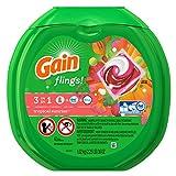 Gain Flings Laundry Detergent Pacs, Tropical Sunrise, 42 Count